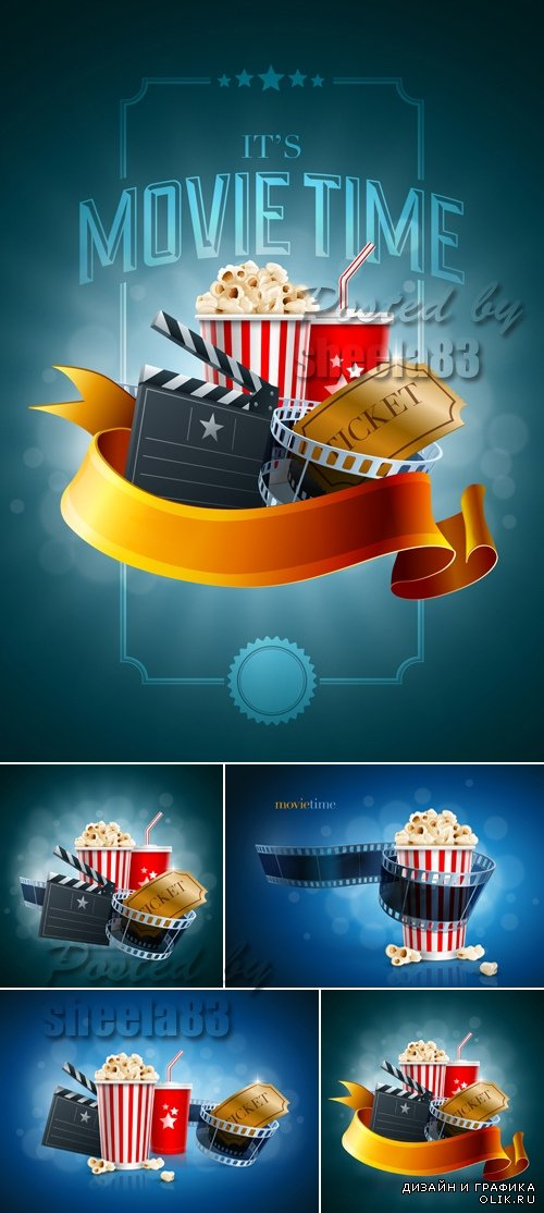 Cinema & Movie Backgrounds Vector