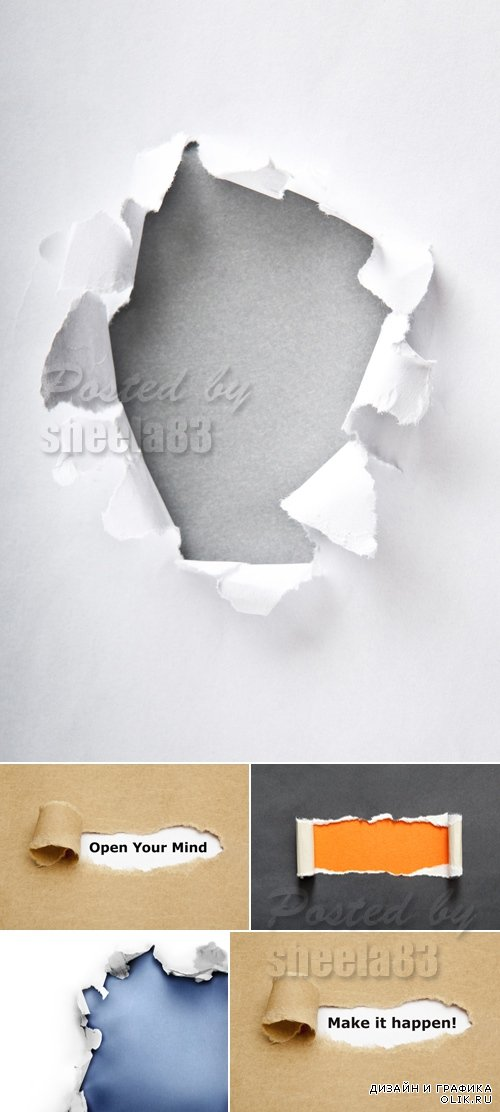 Stock Photo - Torn Paper Backgrounds