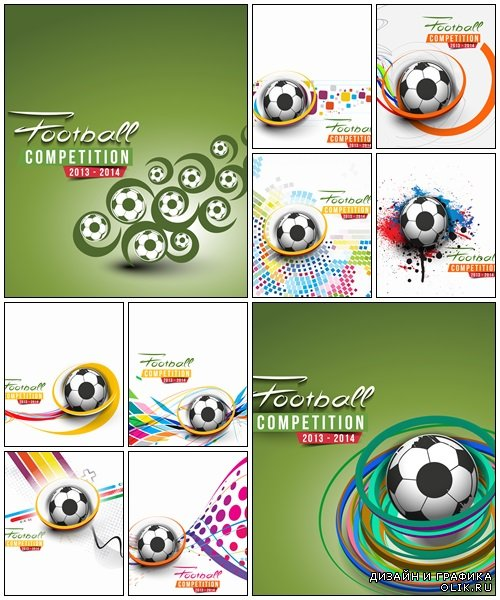 Football Event Poster - vector stock