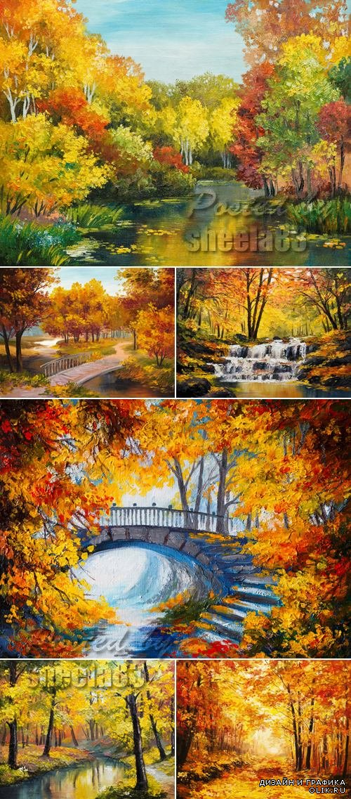 Stock Photo - Watercolor Autumn