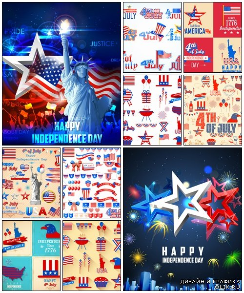 4th of July background - vector stock