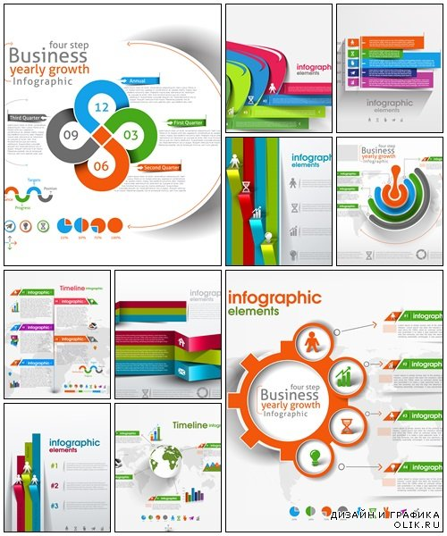 Business Modern Design Infographic and icons - vector stock
