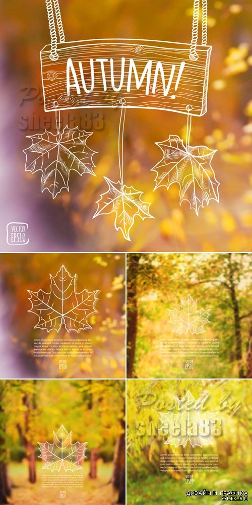 Autumn Nature Backgrounds Vector