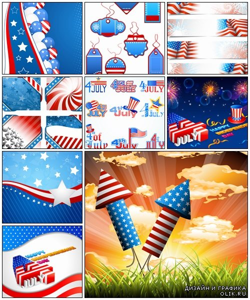 4th of july Independence day - vector stock