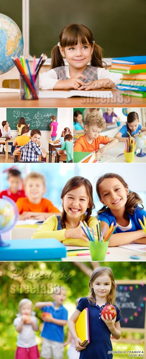 Stock Photo - Happy Schoolchildren
