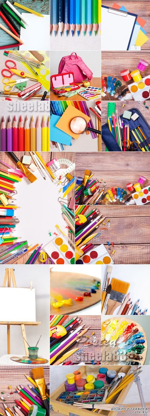Stock Photo - School Supplies