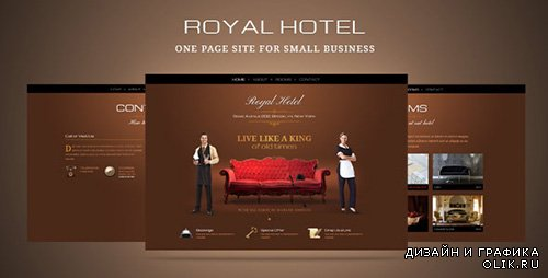 t - Luxury hotel or small business one page template - FULL