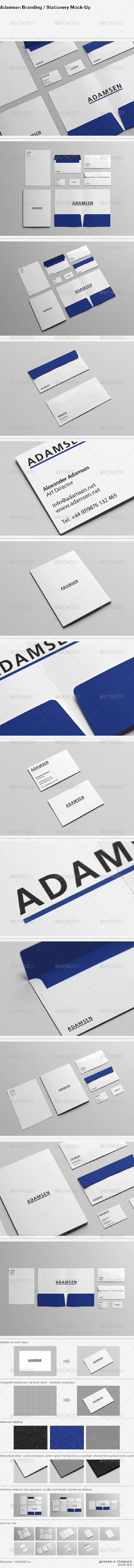 GraphicRiver Adamsen - Branding / Stationery Mock-Up 6685183