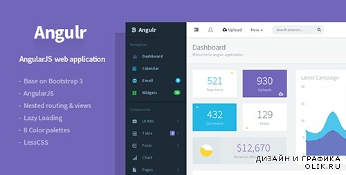 t - Angulr v1.1.3 - Bootstrap Admin Web App with AngularJS