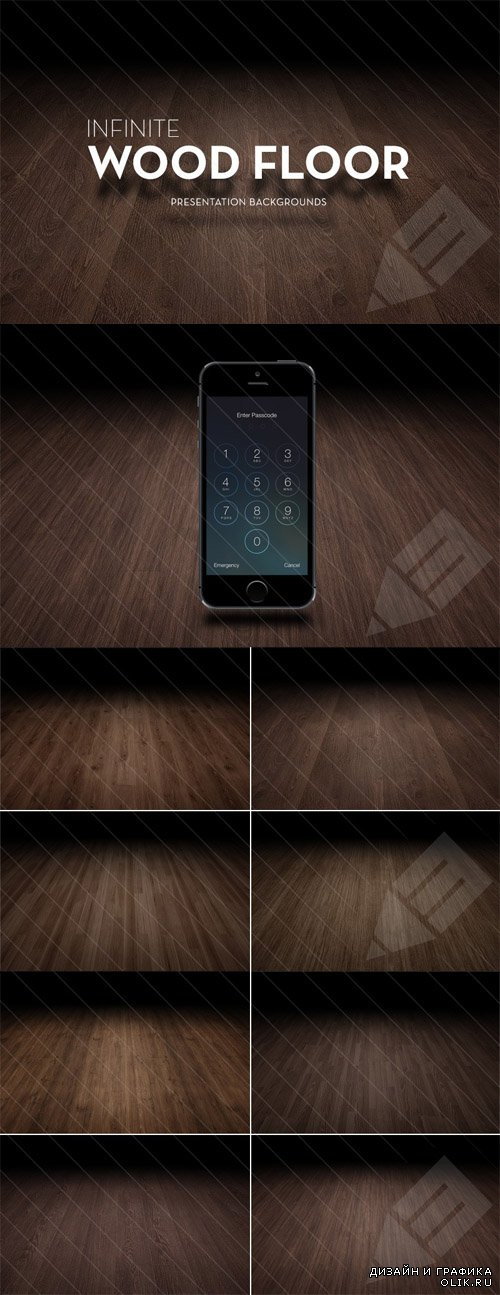 Infinite Wood Floor Backgrounds Set