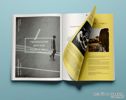 Magazine Mockup Template PSD View Vol 3-2