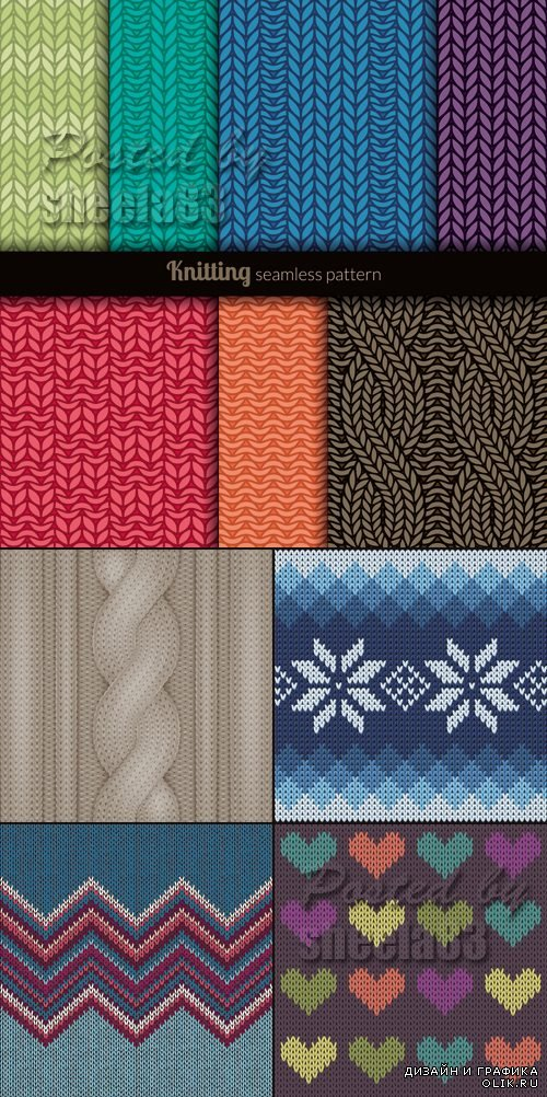 Knitted Backgrounds Vector