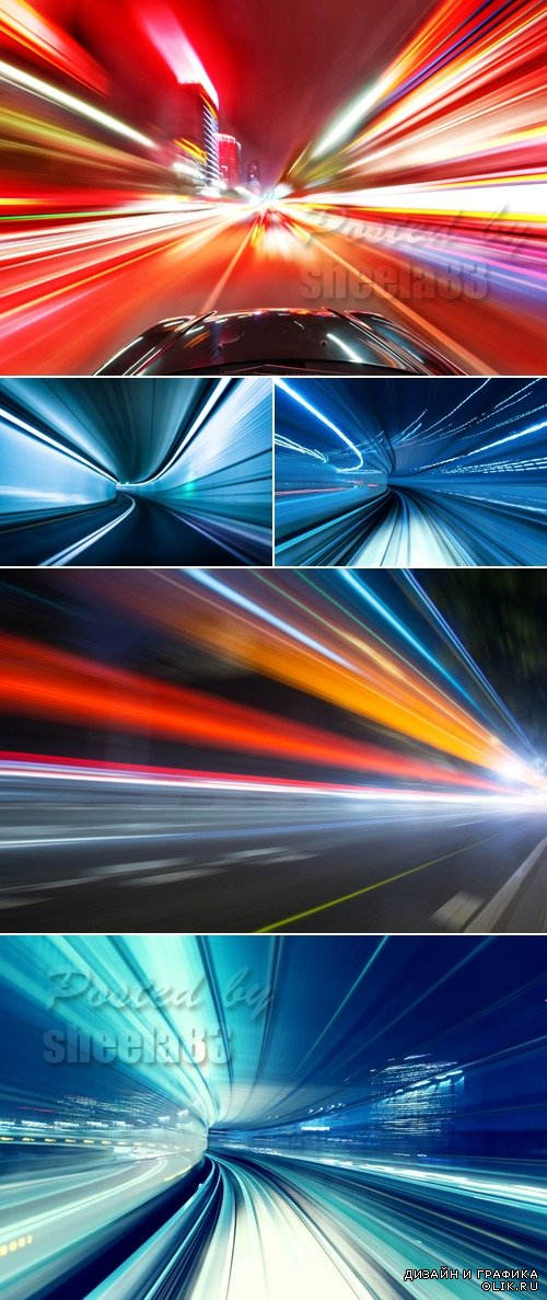 Stock Photo - Car Moving Blurs