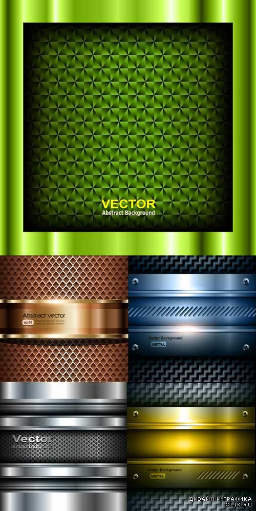 luxurious Metal Vector Backgrounds