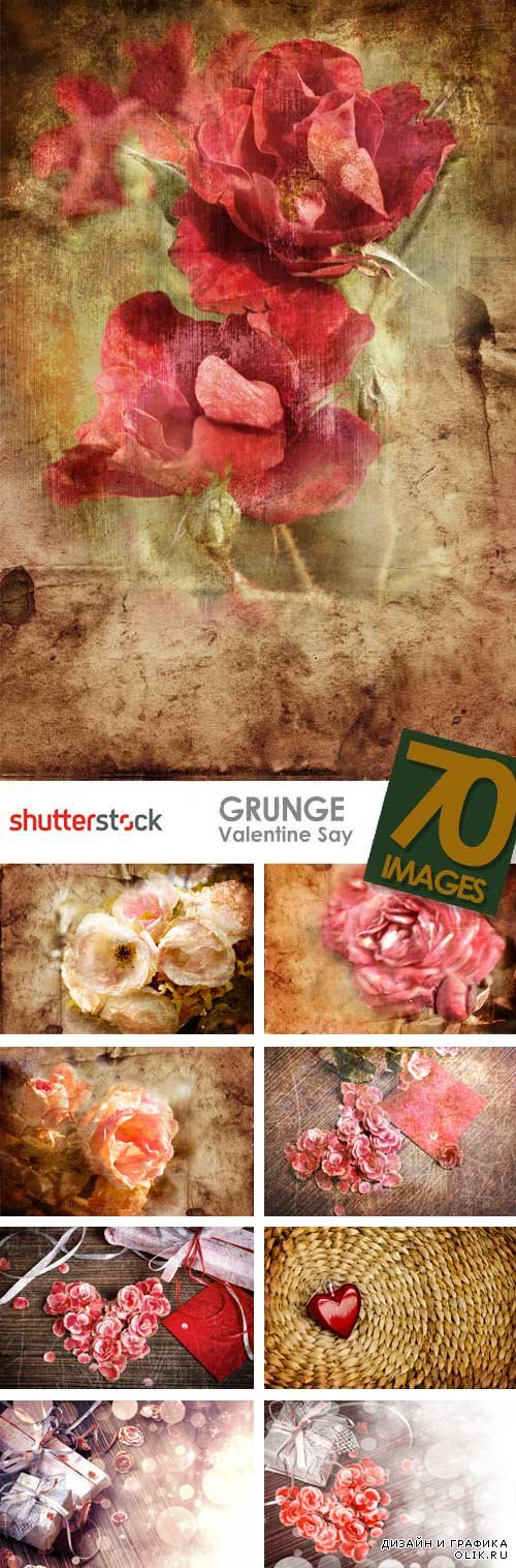 Stock Photo - Grunge Valentine's Day Great Collection