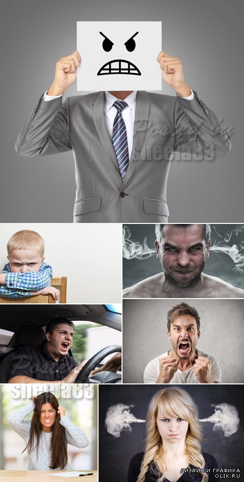 Stock Photo - Angry People
