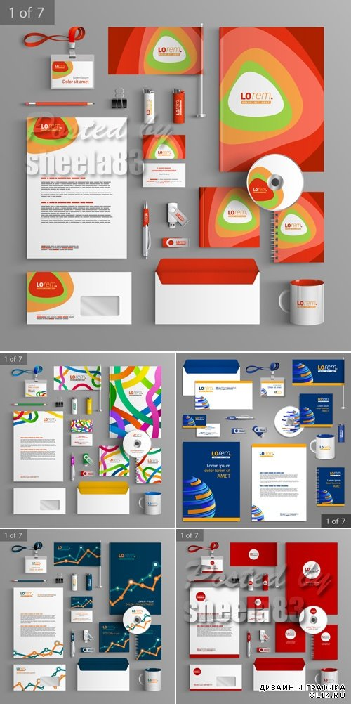 Corporate Identity Templates Vector 4