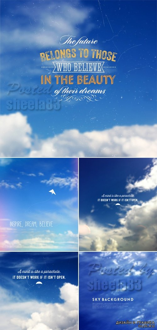 Blue Sky Backgrounds Vector