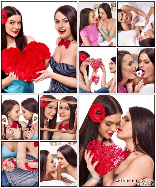 Two women in love - Stock Photo