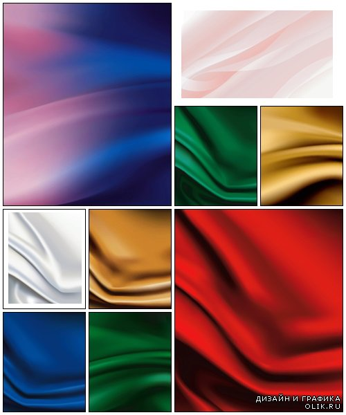 Vector of color silk fabric background - vector stock
