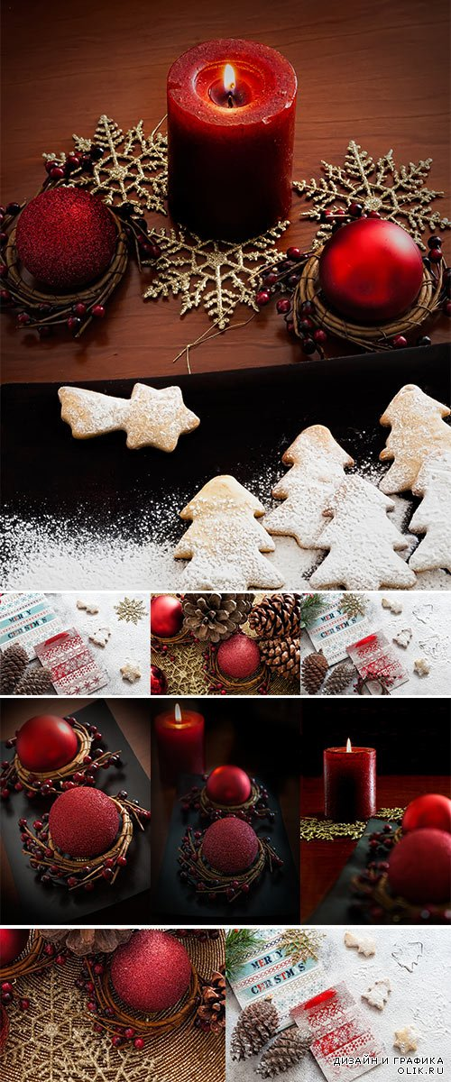 Stock Photo Holly Christmas Decoration