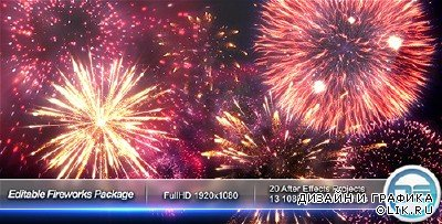 Editable Fireworks Package - Project for AFEFS (Videohive)