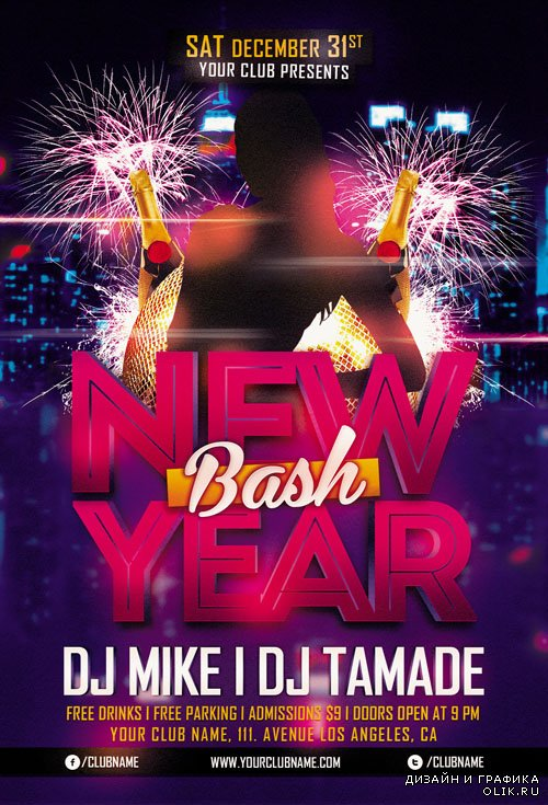 Flyer Template - New Year Bash