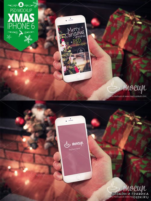 XMAS iPhone 6 Mockup - Creativemarket 128659