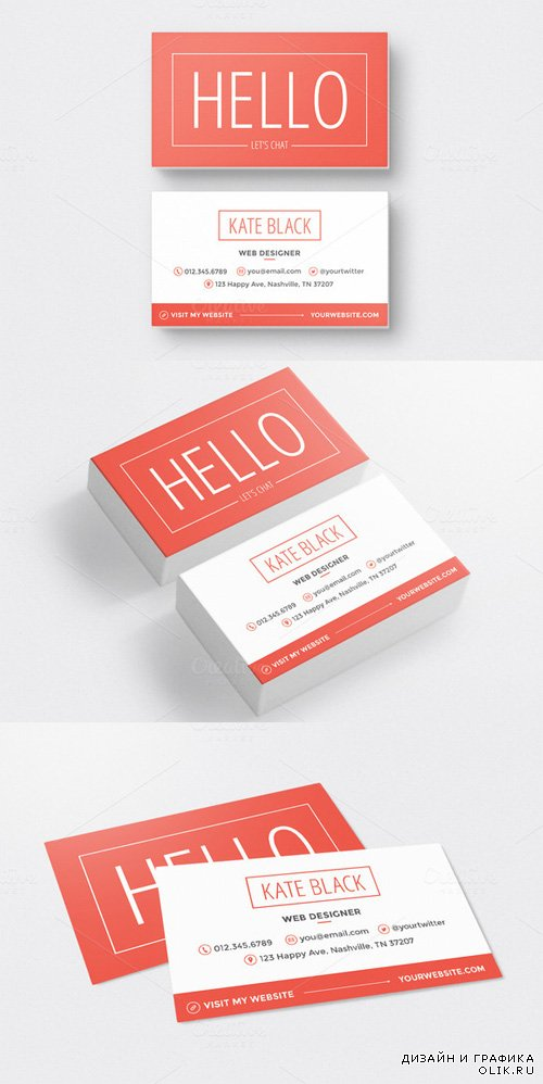 Business Card Template Spark