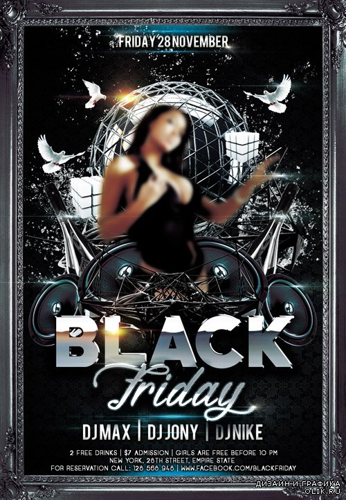Flyer PSD Template - Black Friday 3