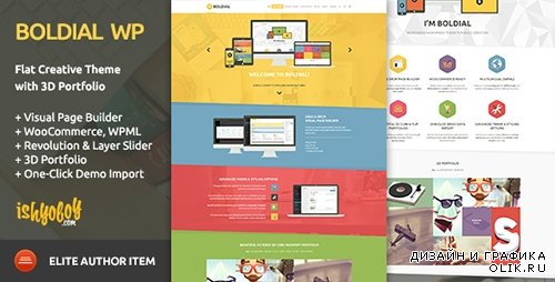 t - Boldial WP v1.8 - Flat Creative Theme with 3D Portfolio