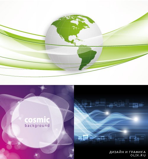 Abstract backgrounds Green 12 Vector
