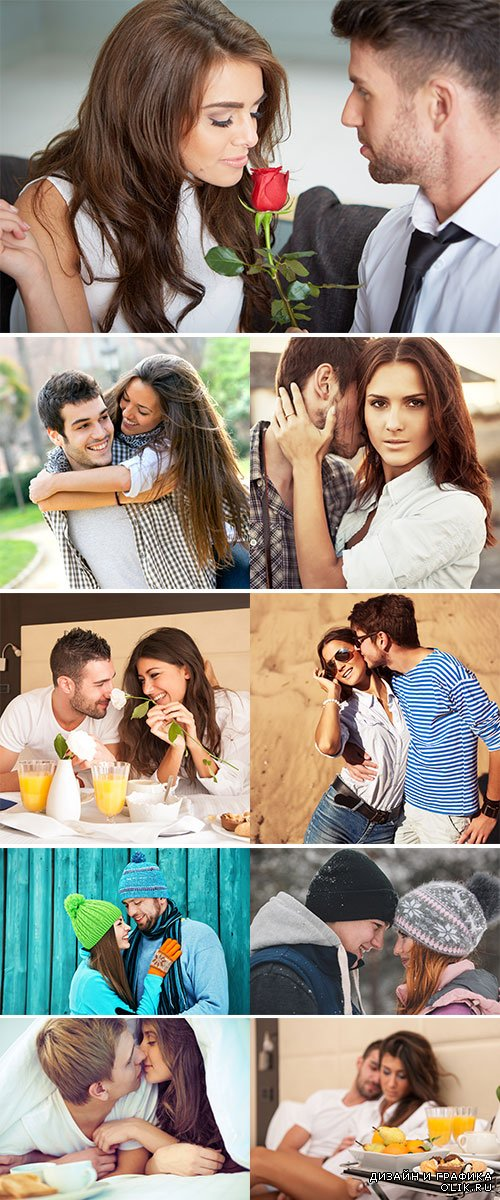 Stock Photo Young beautiful couple