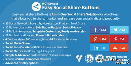 CodeCanyon - Easy Social Share Buttons v2.0.3 for WordPress