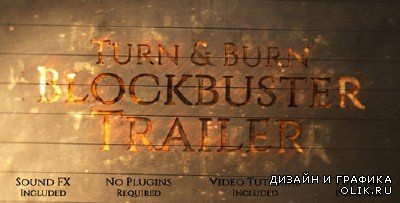 Turn and Burn Blockbuster Trailer - Project for AFEFS (Videohive)