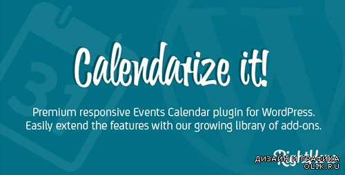 CodeCanyon - Calendarize it! v3.2.9.56224 for WordPress