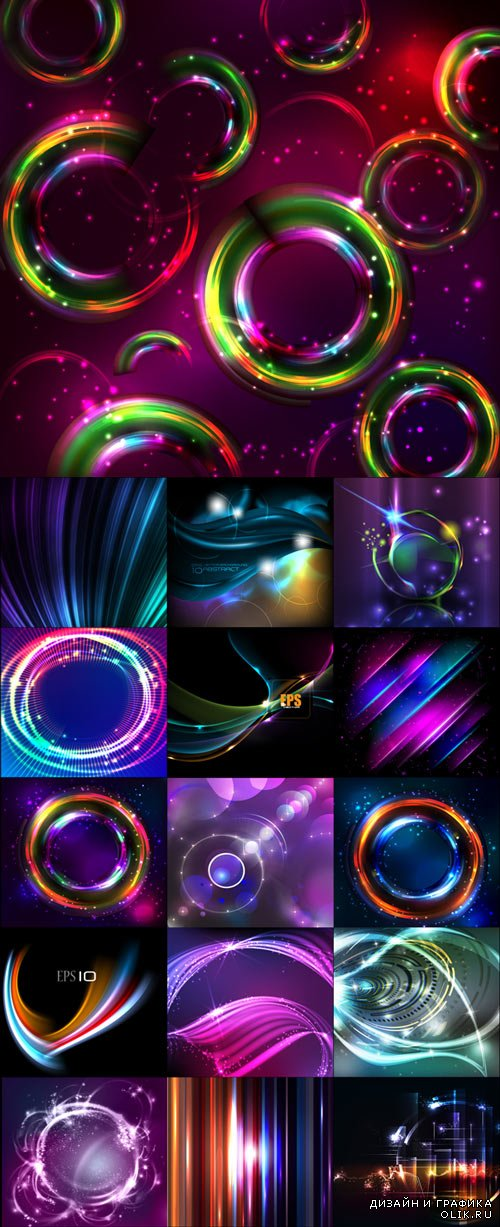 Stylish abstract vector backgrounds set 4