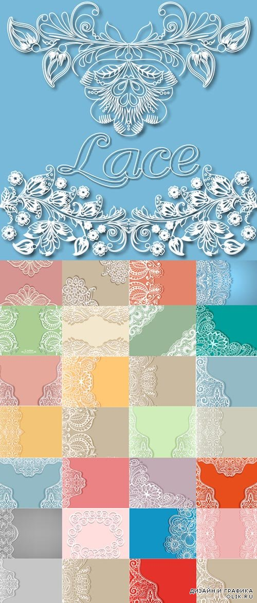 Lace pattern backgrounds image