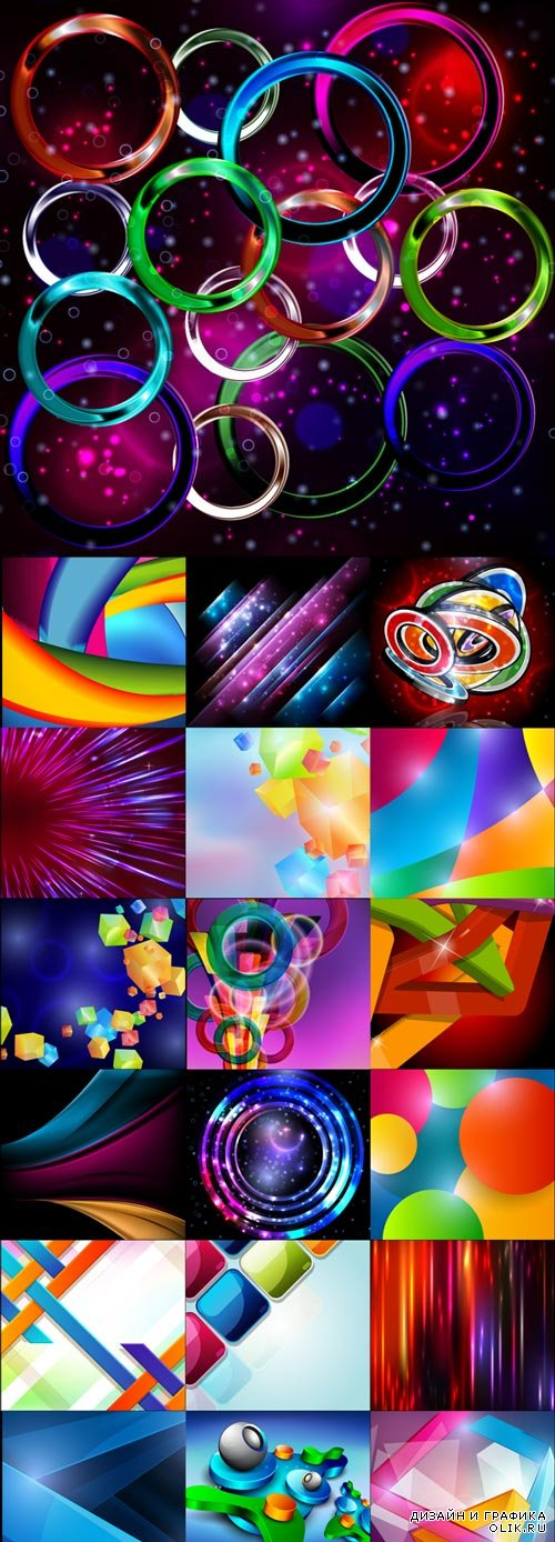 Stylish abstract vector backgrounds set 10