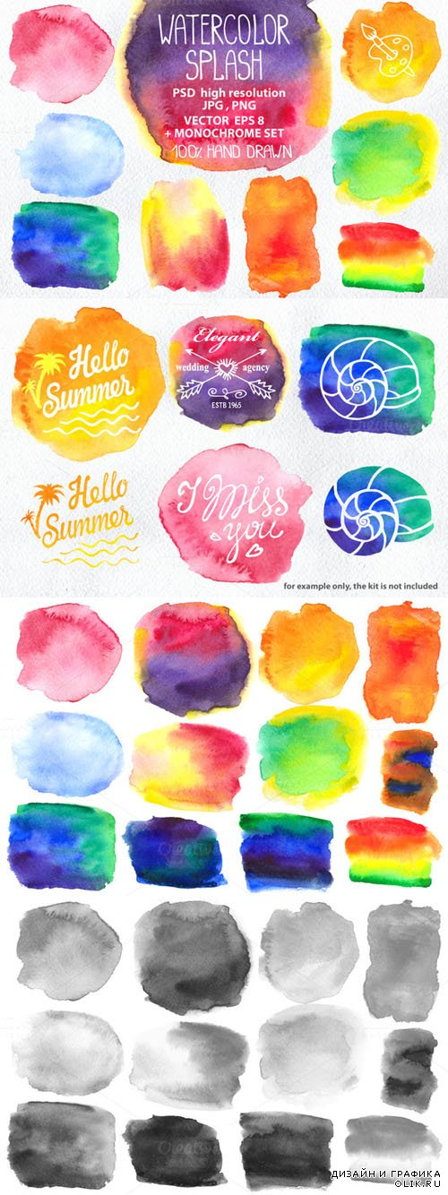 Watercolor splash,background - Creativemarket 202410