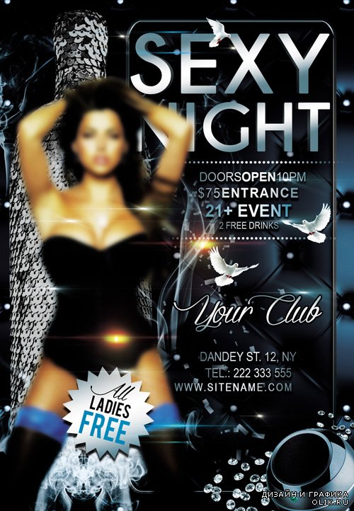 Flyer Template - Sexy Night FB Cover