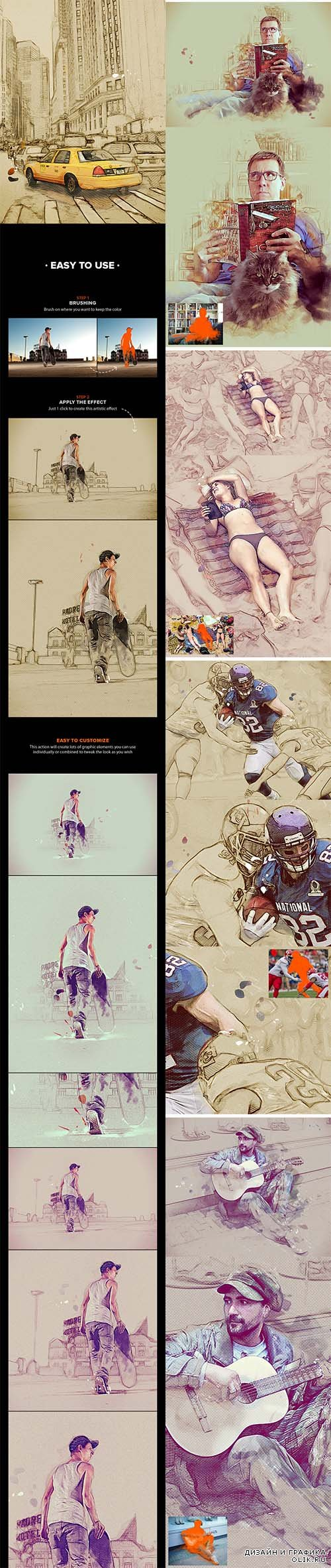GraphicRiver - MixArt - Sketch Painting PHSP Action 10854667
