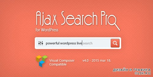 CodeCanyon - Ajax Search Pro v4.0 for WordPress - Live Search Plugin
