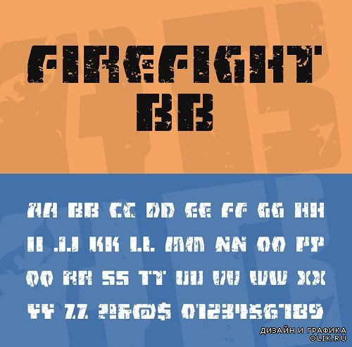Fire Fight Font Style