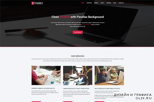 CreativeMarket - Synero - One page Multipurpose Theme