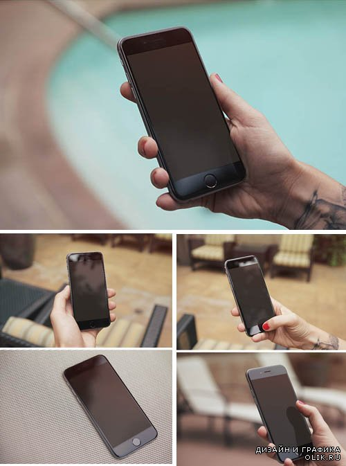 5 iPhone 6 Photo MockUps