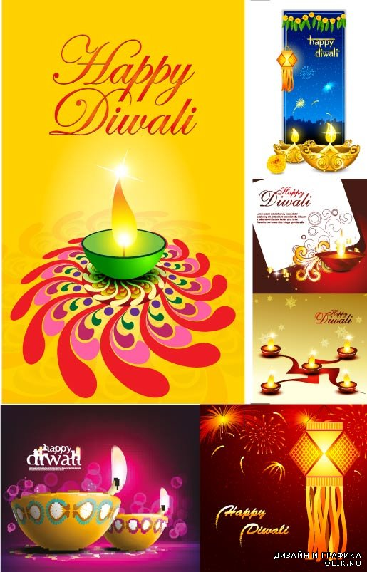Happy Diwali yelow BG Vector