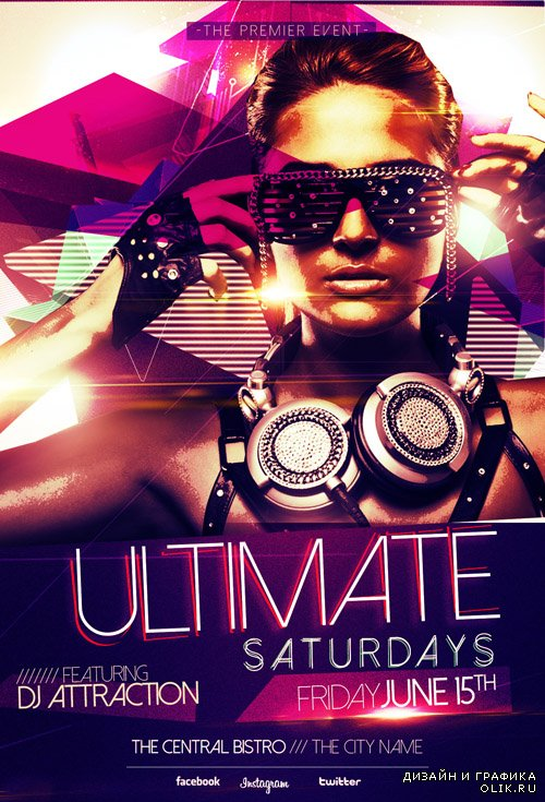 PSD Flyer Template - Ultimate Saturdays