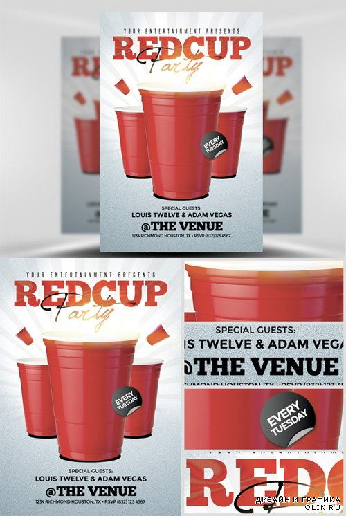 Flyer Template - Red Cup 2