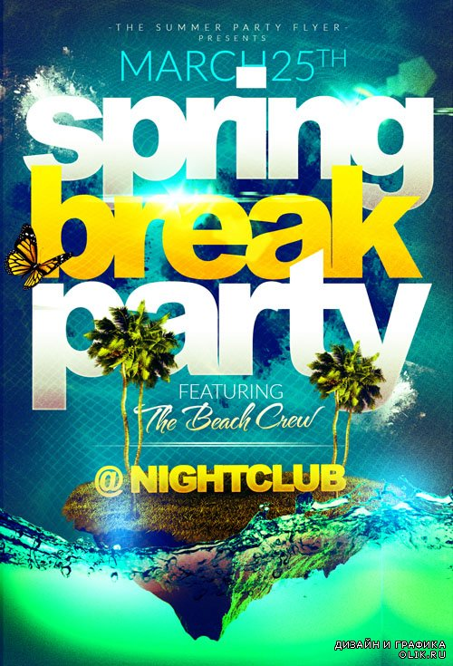 Flyer Template - Spring Break Island Party 2